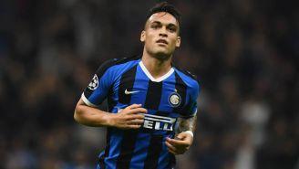 Lautaro Martínez en partido con el Inter de Milan