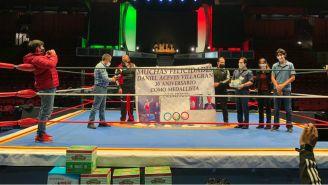 Daniel Aceves: El medallista olímpico entregó apoyo al CMLL