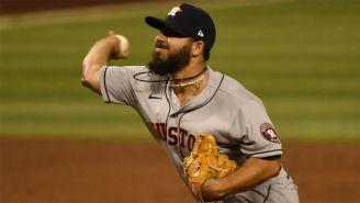 Humberto Castellanos en juego con los Astros