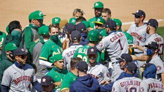 MLB: Astros y Athletics protagonizaron violento conato de bronca