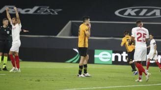 Raúl Jiménez: Wolverhampton cayó ante el Sevilla y el mexicano falló