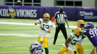 Acción en el Packers vs Vikings