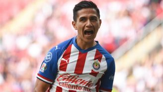 Dieter Villalpando en festejo de gol