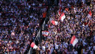 Afición de Chivas previo a un partido