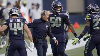 Pete Carroll, en un partido de Seattle