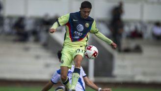 Emilio Lara durante un partido con América Sub 20