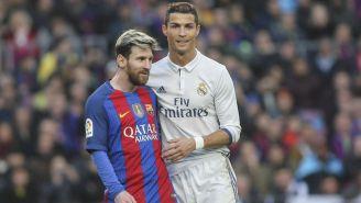 Messi y CR7 durante un Clásico de España