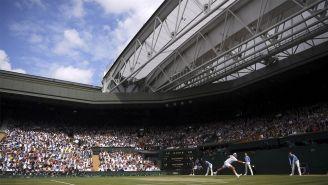 La panorámica de una de las canchas de Wimbledon