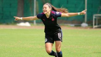 Norma Palafox en partido con Chivas