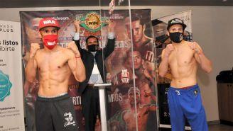El Gallo Estrada y Carlos Cuadras en el pesaje