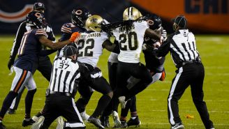 Pelea entre Bears y Saints