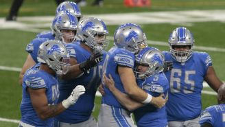 Lions en festejo de TD