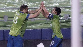 Sounders en festejo de gol
