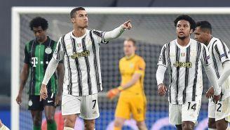 Cristiano Ronaldo durante un partido con Juventus