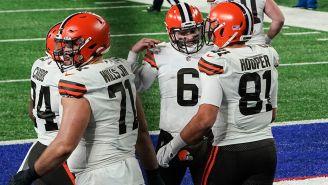 Los Browns festejan una anotación