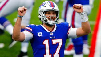 Allen festeja una anotación de los Bills sobre Dolphins