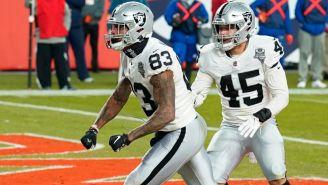 Waller festeja el touchdown de la victoria ante Denver