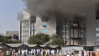 Incendio en el Instituto Serum de la India