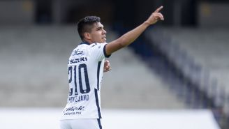 Emanuel Montejano festeja su gol contra Mazatlán