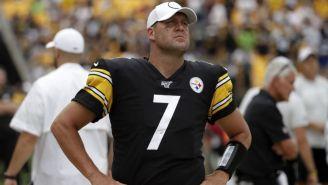 Ben Roethlisberger en un partido con los Steelers