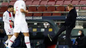 Ronald Koeman en el partico con Barcelona