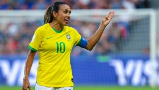 Marta en partido con Brasil