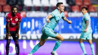 Rangel celebrando el gol de la victoria ante Xolos