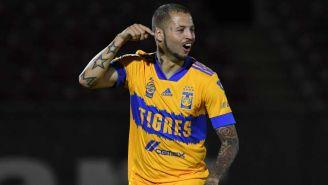 Nico López en festejo de gol