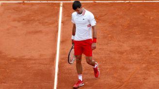 Novak Djokovic reacciona a su eliminación