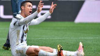Cristiano Ronaldo durante un duelo con la Juventus