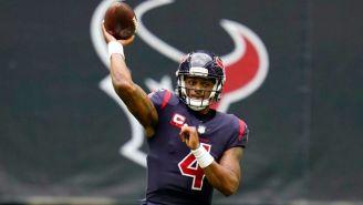 Deshaun Watson en un partido con Houston