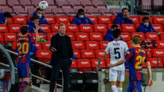 Ronald Koeman en acción durante juego de Barcelona vs Getafe