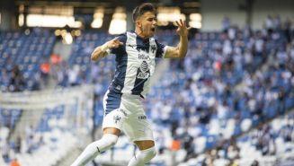 Maxi Meza en festejo con Monterrey