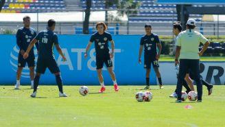 Jugadores del América en un entrenamiento