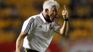 Ricardo Ferretti en el duelo entre Tigres y América