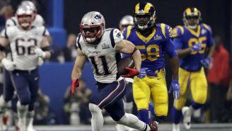 Edelman durante el Super Bowl LIII