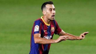 Busquets, en un juego del Barça