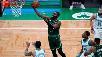 Jaylen Brown, en acción con los Celtics
