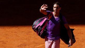 Rafael Nadal abandona la cancha tras un partido
