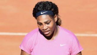 Serena Williams reacciona en el encuentro