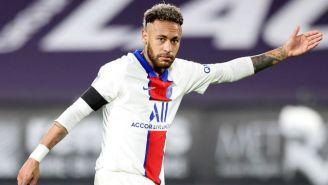 Neymar en un partido del París Saint-Germain