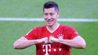 Lewandowski en un partido con el Bayern Munich