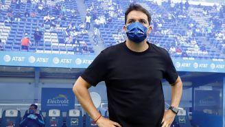 Nicolás Larcamón  en el Puebla contra Atlas