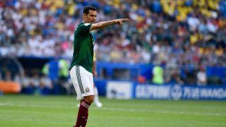 Rafa Márquez durante un partido con el Tri