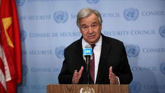 António Guterres en conferencia de prensa
