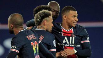 PSG en celebración de gol