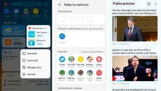Asistente Huawei lanzó nuevo diseño con el newsfeed de SQUID