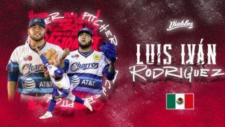 Luis Iván Rodríguez presentado con los Diablos