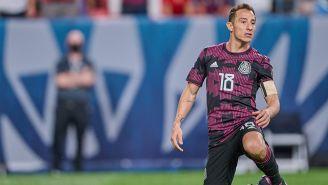 Andrés Guardado en el partido contra Estados Unidos
