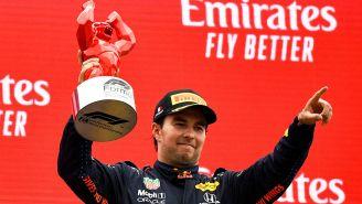 Checo Pérez subió al podio con el tercer lugar del Gran Premio de Francia